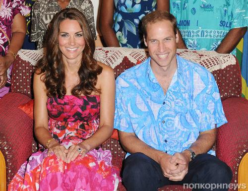 Кейт Миддлтон и принц Уильям проводят отпуск на частном острове
