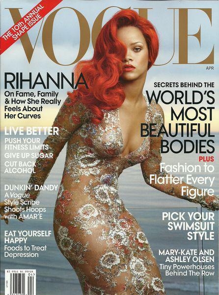 Рианна в журнале Vogue US. Апрель 2011. Сканы и видео со съемок