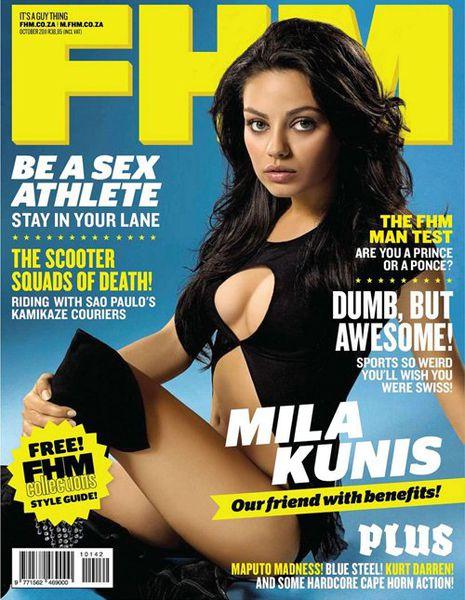 Мила Кунис в журнале FHM. ЮАР. Октябрь 2011