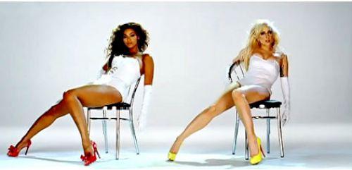 Первый взгляд на Бейонсе и Lady Gaga  в клипе Video Phone