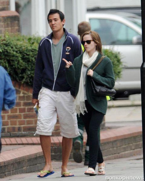 Эмма Уотсон с бойфрендом в Лондоне