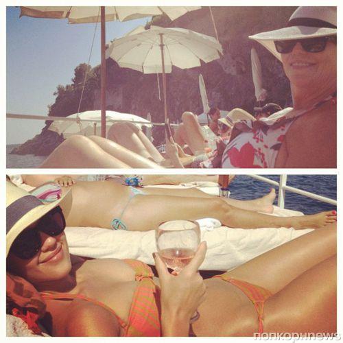Джессика Альба проводит отпуск в Италии