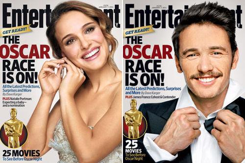Натали Портман и Джеймс Франко на обложке журнала EW