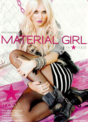 Тэйлор Момсен стала лицом марки одежды Мадонны Material Girl