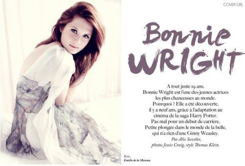 Бони Райт в журнале Dirrty Glam. Фрнация. Июнь 2010