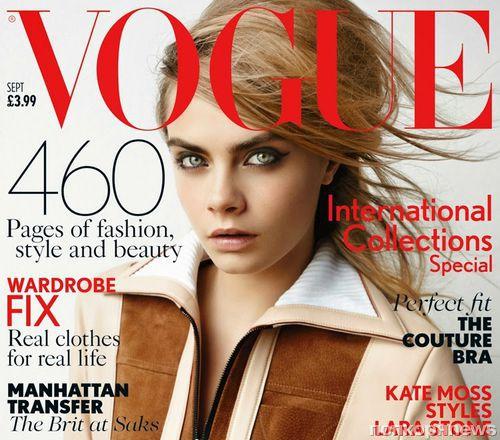 Кара Делевинь в журнале Vogue Великобритания. Сентябрь 2014