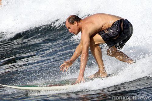 Вуди Харрельсон берет уроки серфинга