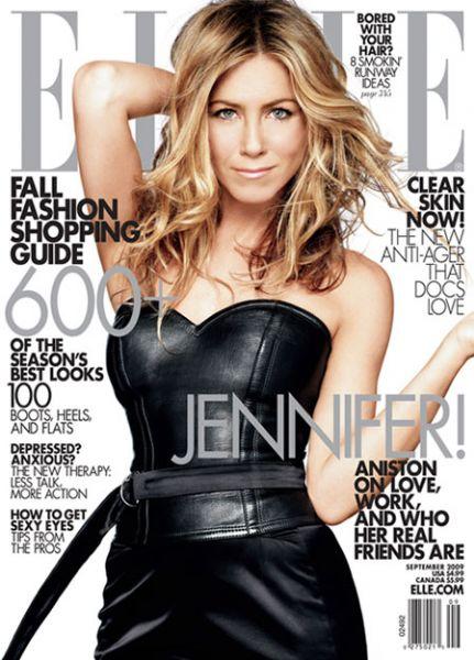 Дженнифер Энистон в журнале Elle. Сентябрь 2009