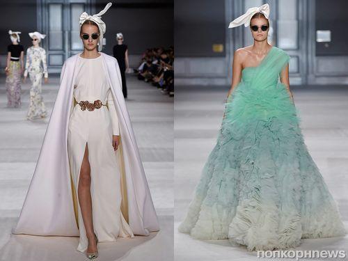 Показ коллекции Giambattista Valli Haute Couture Осень/Зима 2015 на неделе моды в Париже