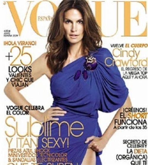 Синди Кроуфорд в журнале Vogue. Испания. Июль 2009
