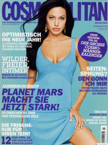 Анджелина Джоли в журнале Cosmopolitan Германия. Январь 2009