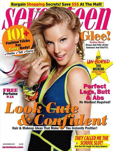 Хизер Моррис в журнале Seventeen. Ноябрь 2011