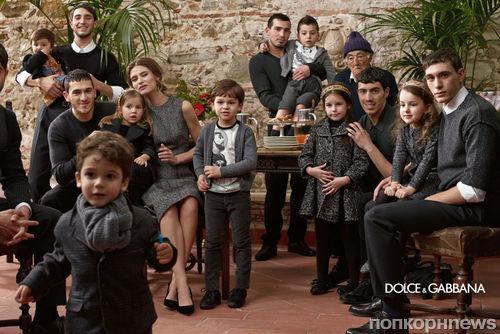 Рекламные кампании мужской и детской коллекций Dolce & Gabbana Осень 2013 / Зима 2014