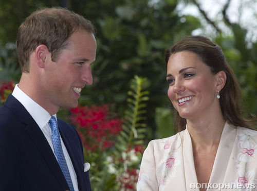Принц Уилльям и Кейт Миддлтон посетили Сингапур