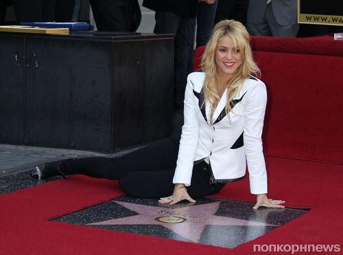Шакира получила звезду на Аллее Славы