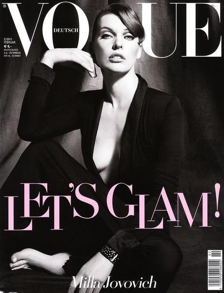 Милла Йовович в журнале Vogue. Германия. Февраль 2011