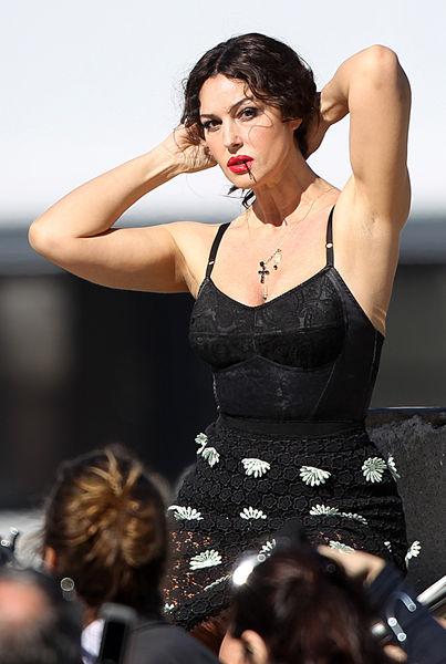 Моника Беллуччи на съемках рекламного ролика D&G
