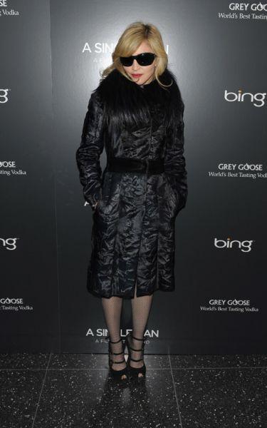 Мадонна на показе фильма A Single Man
