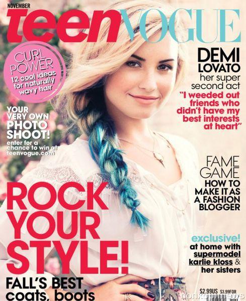 Деми Ловато в журнале Teen Vogue. Ноябрь 2012