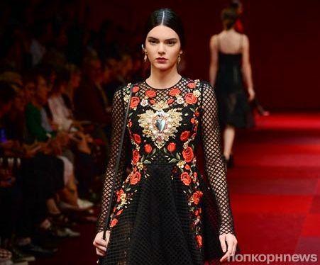 Модный показ новой коллекции Dolce & Gabbana. Весна / лето 2015
