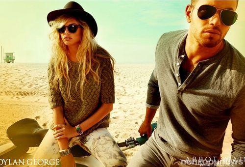 Келлан Латс в рекламной кампании Dylan George и Abbot + Main. Осень 2012