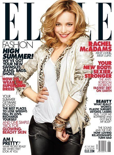Рэйчел МакАдамс в журнале Elle. Июнь 2011