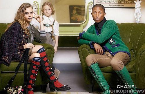Кара Делевинь и Фаррелл Уильямс в новой рекламной кампании Chanel Pre-Fall 2015