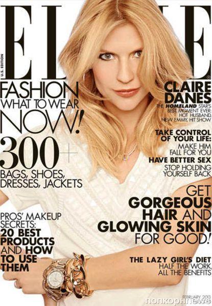 Клэр Дэйнс в журнале Elle. Февраль 2013