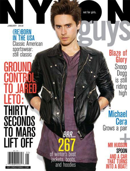 Джаред Лето в журнале Nylon Guys. Январь 2010