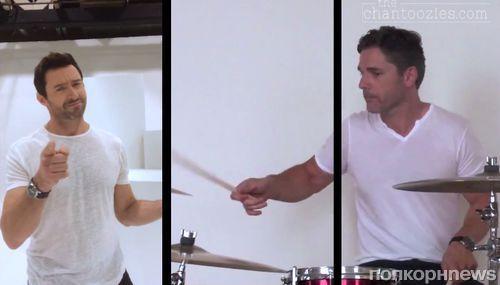 Хью Джекман и Эрик Бана в клипе группы Chantoozies
