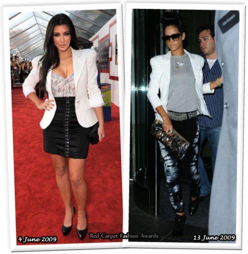 Fashion battle: Ким Кардашян и Рианна