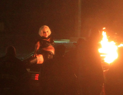 "Lady Gaga на съемках клипа на песню ""Marry The Night"""