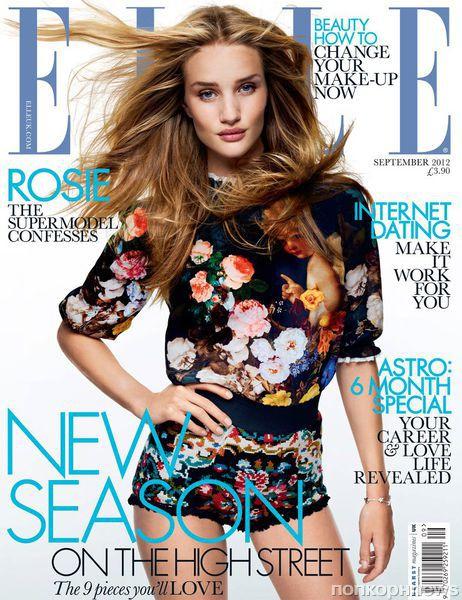 Роузи Хантингтон-Уайтли в журнале Elle Великобритания. Сентябрь 2012