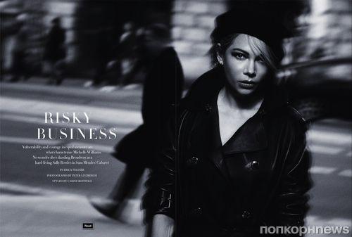 Мишель Уильямс в журнале Harper's Bazaar  Великобритания. Июль 2014