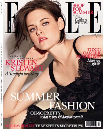 Кристен Стюарт в журнале Elle Британия. Июль 2010