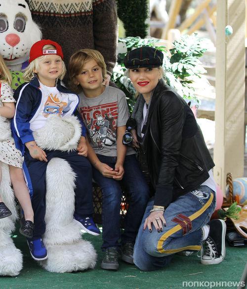 Гвен Стефани с детьми в Оранж Каунти