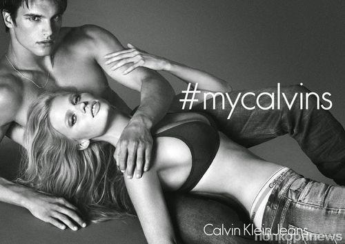 Лара Стоун в новой рекламной кампании Calvin Klein Jeans. Осень / зима 2014