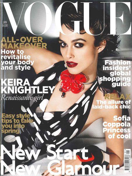 Кира Найтли в журнале Vogue UK. Январь 2011