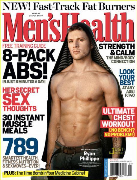 Райан Филлипп в журнале Men's Health. Май 2010