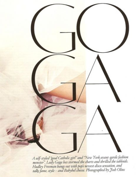 Lady Gaga в журнале Vogue UK, Октябрь 2009