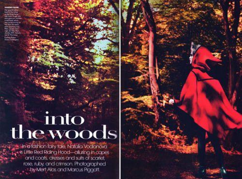 Наталья Водянова в журнале Vogue Us. Сентябрь 2009