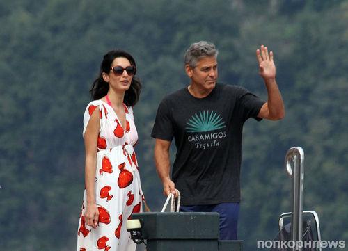 Джордж Клуни и Амаль Аламуддин в Италии