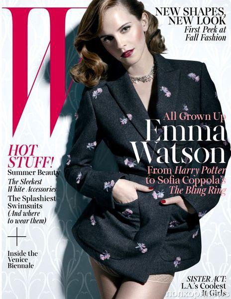 Эмма Уотсон в журнале W. Июнь / июль 2013