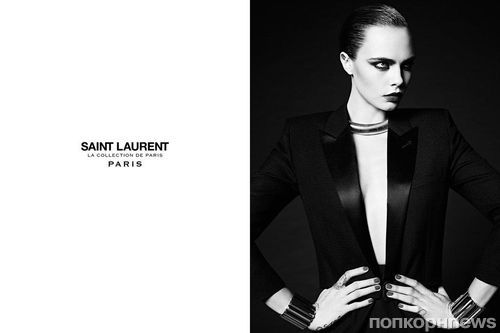 Кара Делевинь снялась в новой рекламной кампании Saint Laurent