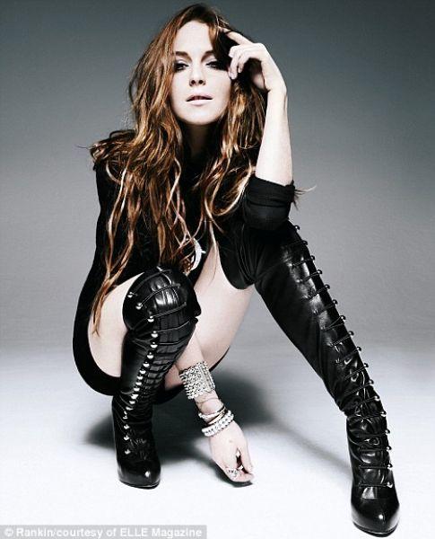 Линсдей Лохан для журнала Elle