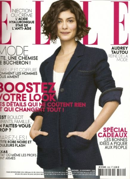 Одри Тату в журнале Elle. Франция. Ноябрь 2008