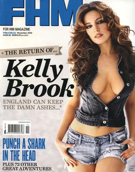 Келли Брук в журнале FHM Australia. Ноябрь 2010