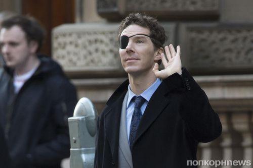 Бенедикт Камбербэтч обзавелся повязкой на глаз на съемках нового сериала «Мелроуз»