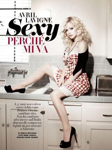 Сексуальная Аврил Лавин в журнале Vanity Fair. Италия