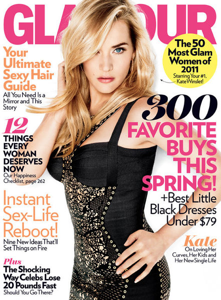 Кейт Уинслет в журнале Glamour. Апрель 2011
